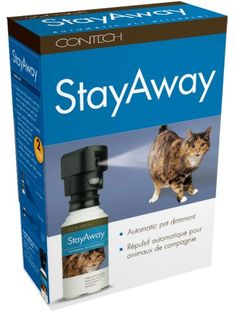 $34.95-$49.99 Contech StayAway Motion-Activated Pet Deterrent - StayAway  a short burst of air and a warning tone are activated by a motion sensor keeping pets from causing harm or getting hurt http://www.amazon.com/dp/B000DZFFN4/?tag=pin2pet-20