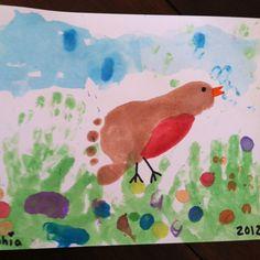 My spring robin footprint