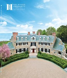 Sunday April 29th 2012 Release Date for Spring/Summer Halstead Portfolio Magazine Connecticut Version.  Located on Contentment Island this shot was taken by a 100' rigged camera from above to get the vantage point of the Long Island Sound that is behind the gorgeous Darien CT home.