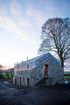 Rear entrance - Loughloughan Barn by McGarry-Moon Architects