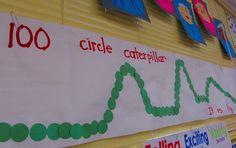 100 circle caterpillar