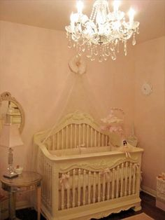 Baby Nursery Photos - Unique Nursery Ideas, ivory and pale pink