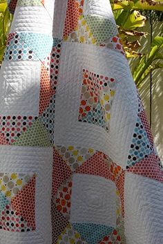 love the quilting, fun piecing design too