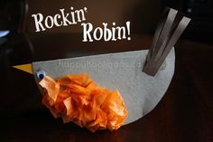 cardboard bird, bird crafts, sunday school crafts, rockin robin, birds, craft ideas, kid crafts, preschool, art projects
