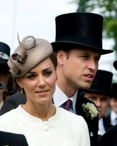The young Duke and Duchess of Cambridge