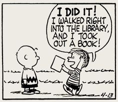 I did it! I walked right into the library, and I took out a book!