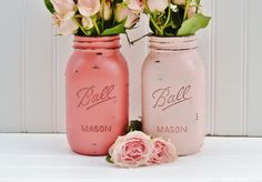 I dont like the pink but I love the painted jars.