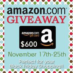 Amazon Gift Card Giveaway | theidearoom.net