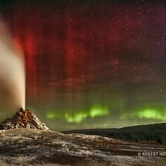 Astronomy Picture of the Day 2012 October 17 Aurora Over White Dome Geyser ...See More