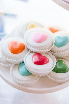 Rainbow Heart Oreos