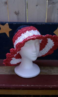 Crochet Pattern: Large brim garden hat for children to adult by Retrorenew via Etsy. Cost $3.99