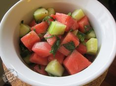 Watermelon Mojito Salad  @Stupid Easy Paleo