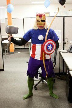 geek, like a boss, hero, halloween costumes, costume ideas, funni, black, halloween ideas, the avengers