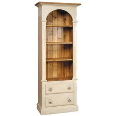 French Country Furniture Arched Bookcase made in country french style of antiques