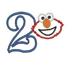 Elmo Applique, Elmo Design, Elmo Embroidery Design, Elmo Birthday Applique