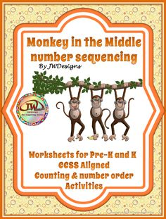 "FREE MATH LESSON - ""Monkey in the Middle Number Sequencing Activity / Printable Pre-K - 1st"" - Go to The Best of Teacher Entrepreneurs for this and hundreds of free lessons.  Pre-Kindergarten - 1st Grade   #FreeLesson   #TeachersPayTeachers   #TPT   #Math  http://www.thebestofteacherentrepreneurs.net/2014/07/free-math-lesson-monkey-in-middle.html"