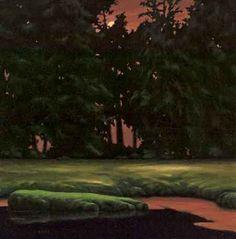 "Gayle Bard  Bay Center Slough  2011  Oil on Canvas  30"" x 30"""