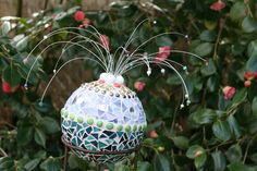 Custom Mosaic Garden Ball