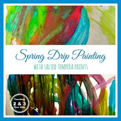 Teaching 2 and 3 Year Olds: Shimmery Paint for Spring