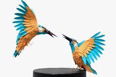 creative papeart birds