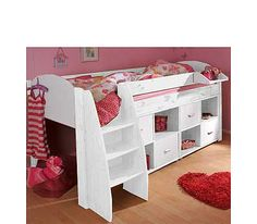White Trundle Bed With Bookcase Nfm