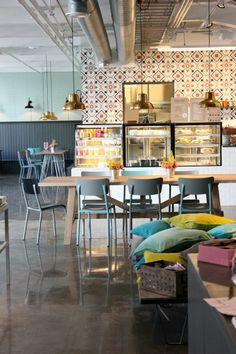 Shop Inspiration: Moko - Market and Coffee! | Art And Chic interior, shop, restaurant design, café restaurant, helsinki, cushion, finland, cafe, moko market