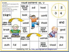 Second Grade Rading Street center games for the weekly phonics lesson AAND link to more awesome freebies including chooser for who to call on next