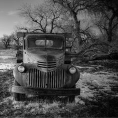 old Chevy truck.  I just love this.