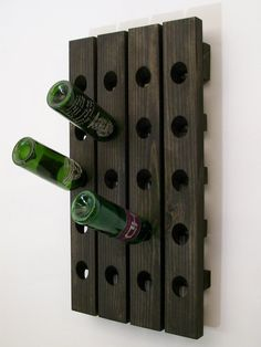 Wine+Riddling+Rack+Wood+Wall+Hanging+Winerack+Ebony+by+Wood4Decor,+$59.99