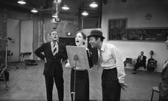 """Julie Andrews and Rex Harrison recording the original """"My Fair Lady"""" soundtrack. The way it should be!"""