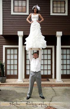 Stunting at the wedding!