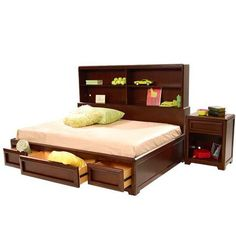 el dorado furniture expressions full storage bed with extra drawers