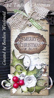 geinspireerd door Tim Holtz 12 tags of Christmas 2011 - nr. 7