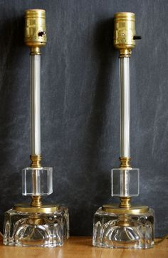 Set of 2 Mid Century Hollywood Regency lamps
