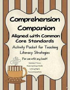 My best-seller! You will love this fantastic resource packet with 20+ pages of printable worksheets and activities that can be used during guided reading groups, Daily Five CAFE and whole-group reading comprehension instruction based on the Common Core Standards!    These activities will also help to prepare your students for state assessments and classroom assessments like DRA and STAR reading.      J. Moriconi~Kidsrcute