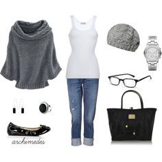 """Gray Winter's Day"" by archimedes16 on Polyvore"