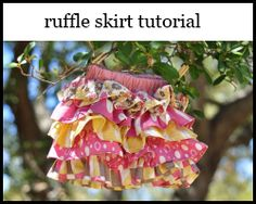 ruffle skirt tutorial - how fun is this?? and can you say easy??