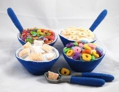 BREAKFAST CEREAL  PDF Felt Food Pattern Four Boxes by BuggaBugs,