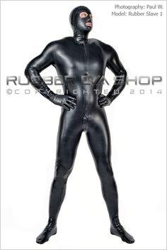 Mens Hooded Rubber Total Enclosure Catsuit - Mens Suits - Rubber Eva Shop