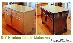 diy kitchen island makeover from Sand and Sisal - featured on Today's Creative Blog