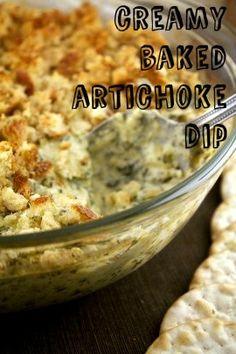 Creamy Baked Artichoke Dip