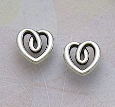 Heart String Ear Posts from James Avery Jewelry #jamesavery