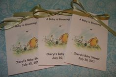 darling pooh invite for a child's party or a baby shower