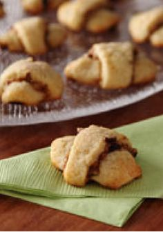 Pumpkin-Pecan Rugelach Cream Cheese Cookies -- If you thought you could only get pumpkin-pecan rugelach at a bakery--think again. These cream cheese cookies are a cinch to prepare.
