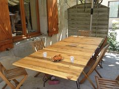 Pallet table for 12 people #Pallet, #Table