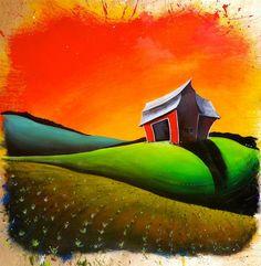 The Smith Farm - Acrylic on Plywood