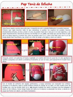 fun foam sneaker photo tutorial for dolls NOT in English