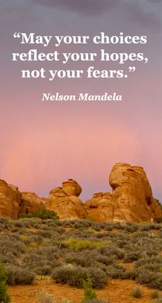 """""""May your choices reflect your hopes, not your fears.""""  Nelson Mandela – On F&JmcGinn image of Devil's Garden at sunset in ARCHES NATIONAL PARK, MOAB, UTAH.  Explore inspiration on adventure and travel at WONDER AND WANDERLUST QUOTES at http://www.examiner.com/article/memorable-travel-quotes-on-wanderlust"""