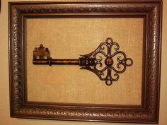 Key vintage keys, old keys, skeleton keys, a frame, antique keys