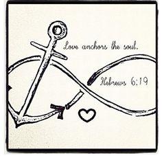 Faith and nautical tattoo. loving you achors the soul